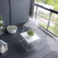 IKEA RUNNEN Floor Decking Outdoor - Lantai luar ruangan, abu-abu tua