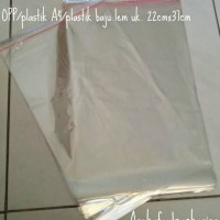 OPP/plastik A4/plastik baju lem uk. 22cmx37cm