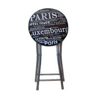 Bangku Lipat Atria Gnome Paris City Folding Stool Hitam