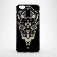 vector cowboy skull with revolver Hard case Iphone case dan semua hp