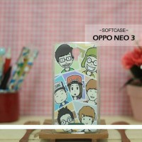 Custom Case HP Softcase Oppo Neo 3 Running Man Cartoon