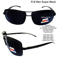 kacamata eyewear sunglasses rayband man super black full set