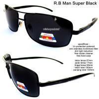 kacamata eyewear sunglasses rayband man super hitam full set