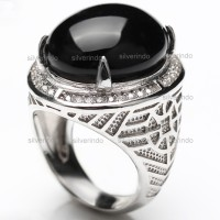 *** SALE *** PERAK 925 cincin cowok ikat batu emban BJ119-AB