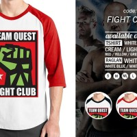KAOS FIGHT CLUB RAGLAN - MURAH | KAOS DISTRO MURAH | RABBANI DISTRO