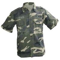 Harga kemeja pendek army loreng doreng motif | Pembandingharga.com