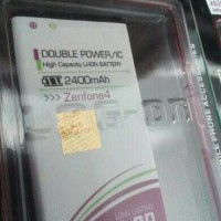 Baterai Double Power Log on Asus Zenfone 4 2400mAh /Batere /Battery