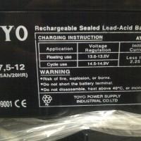 harga Toyo 12v - 7,5 Ah (aki Mobil & Motor Mainan) Tokopedia.com