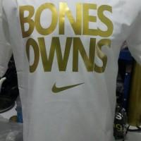 tshirt/t shirt/kaos nike bones owns (white)