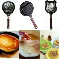 Teflon Mini Non Stick Frying Fry Pan Wajan Panci Kuali Anti Lengket Penggorengan Telur Egg Kue Pancake Karakter Motif Doraemon