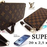 Dompet Hp / Android Lv Kulit Premium / Dompet Wanita Louis Vuitton