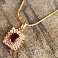 harga Kalung Nama Diamond Merah Delima Tokopedia.com