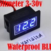 Digital MiNi WaterProof VoltMeter DC:3-30V Panel 0.4 Inch LED