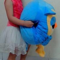 Jual Boneka Owl Roumang Besar biru The Heirs ada saku bisa masuk tangan Murah