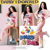 Baju Tidur Donald Duck And Daisy Kaos Tshirt Sleepwear Piyama Pajamas
