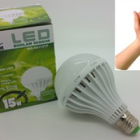 Lampu led sensor suara 15w