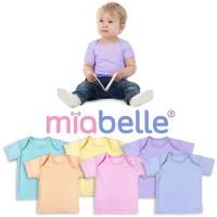 Miabelle Baby Tee Kerah Pundak - Baju Bayi - 8 Warna - 6-12bulan