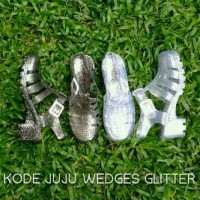 Jelly Shoes Juju Heels / Wedges (Wedge) / Hak Glitter (Gliter)
