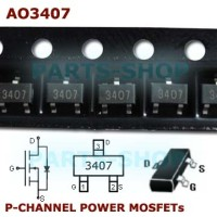 AO3407 30V 4.1A AO 3407 Smd P-Channel Power Mosfet SOT-23