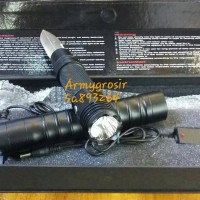 harga Senter Cree Swat+knife Tactical+pisau Survival /senter Multifungsi Tokopedia.com