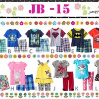 baju setelan fashion anak jumping beans JB 15 JB15 superman cars bunny
