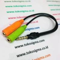 AUDIO JEK 3.5mm SPLITTER to MIC AND HEADPHONE