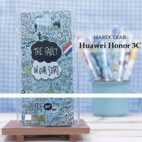 Custom Case Handphone Hardclear Huawei Honor 3c The Fault In Our Stars