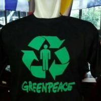 T shirt greenpeace black