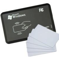 USB RFID READER 125KHZ (Bonus 5pcs Kartu) NFC PLUG N PLAY 125 KHZ