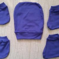 6 Set Topi Sarung Tangan Kaki Bayi (setengah lusin) polos Balita Murah