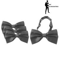 Bow Tie Dasi Kupu-kupu Satin Grey 3Pcs