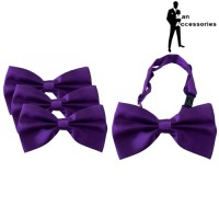 Bow Tie Dasi Kupu-kupu Satin Purple 3Pcs