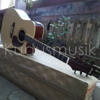 Gitar jumbo ibanez natural LC layar tuner | Akustik elektrik custom