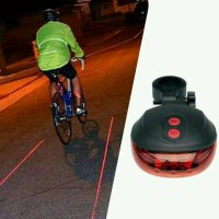 harga Lampu Led Laser Sepeda Garis Merah Bekakang Tokopedia.com