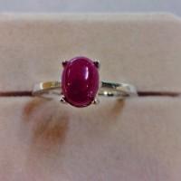harga Cincin Ruby+cincin Perak Lapis Emas Putih 18k Tokopedia.com