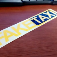 jdm sticker fake taxi
