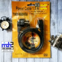 Kabel Power KITANI - Pjg 1,5 Meter | Komputer/Laptop/UPS/LCD/LED/dll