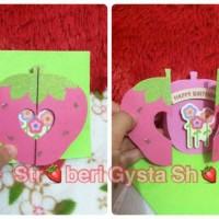 Kartu Ucapan Ulang Tahun Strawberry / Birthday Card