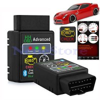 2015 New OBD2 Ver 1.5 ELM327 HH OBD Advanced Black Bluetooth Scanner