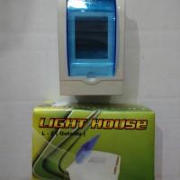 Box MCB 2 Grup Transparan + Lampu Indikator Mini