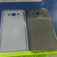 Jelly Case Samsung Galaxy A8 Hitam dan Transparan