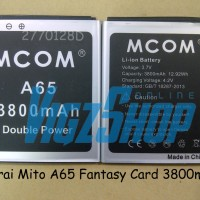 Baterai Battery Mito A65 Fantasy Card 3800mah Mcom Double Power