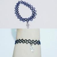 harga Choker Tattoo Bracelet Happy Girl | Gelang Handmade Tokopedia.com
