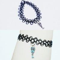 harga Choker Tattoo Bracelet Silver Key | Gelang Handmade Tokopedia.com
