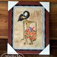 harga Lukisan Wayang Pandawa HARJUNA / JANAKA 35 x 45 cm2 Kulit Kambing ASLI Tokopedia.com