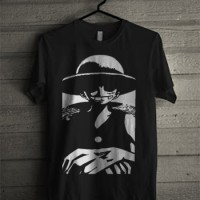 Kaos ONE PIECE (Monkey D. Luffy) - Hitam