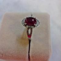 harga Cincin Cabochon Garnet+cincin Perak Lapis Emas Putih 18k (desain 5) Tokopedia.com