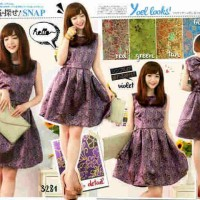 Songket Ribbon Shiny Dress