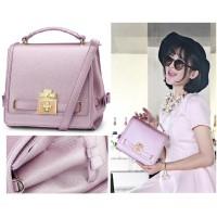 tas selempang pink ungu wanit import premium high quality import