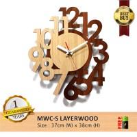 harga Jam Dinding Layerwood Big ~ Modern With High Quality Woods Tokopedia.com